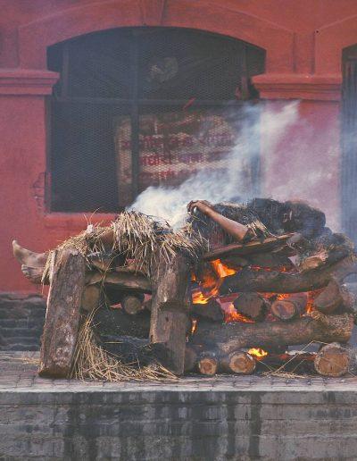 A Hindu cremation