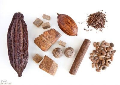 From the fruit to the bean and handpressed cacao the Basic elements of chocolate.