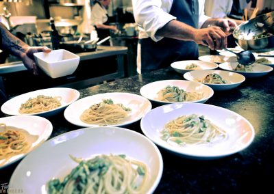 Fresh pasta ready for serving at Toscanini Amsterdam