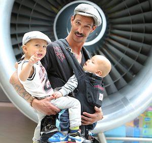 KLM passengers at Schiphol